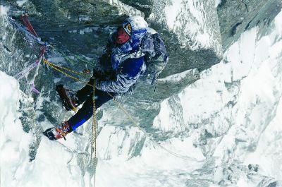 Maciek Ciesielski podczas zjazdów - Alpy 2006